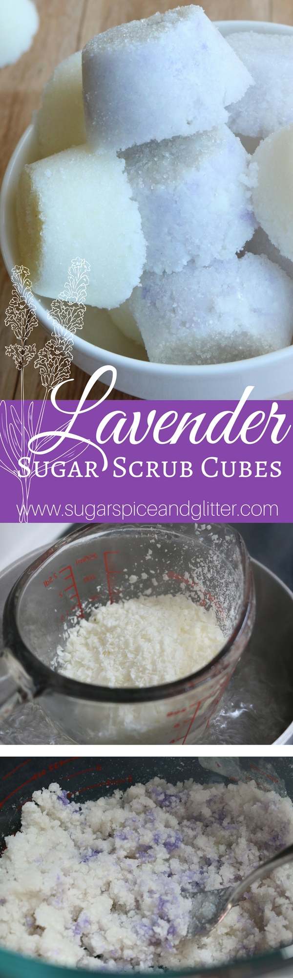 Homemade lavender sugar scrub cubes make a great homemade gift and are a good option for daily, gentle exfoliation. Add this to your homemade beauty product collection