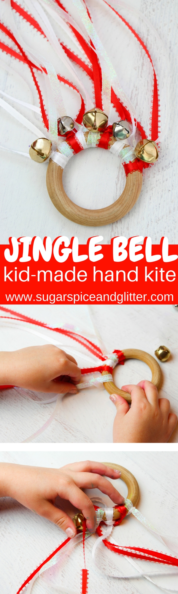 DIY Waldorf Hand Kite that kids can make. This jingly, dancing ring is a great homemade gift for toddlers or preschoolers and they last forever! Just replace the ribbons if they get a bit worn.