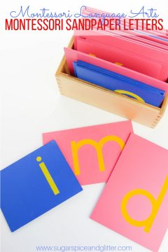 Toward Reading and Writing: The Montessori Sandpaper Letters