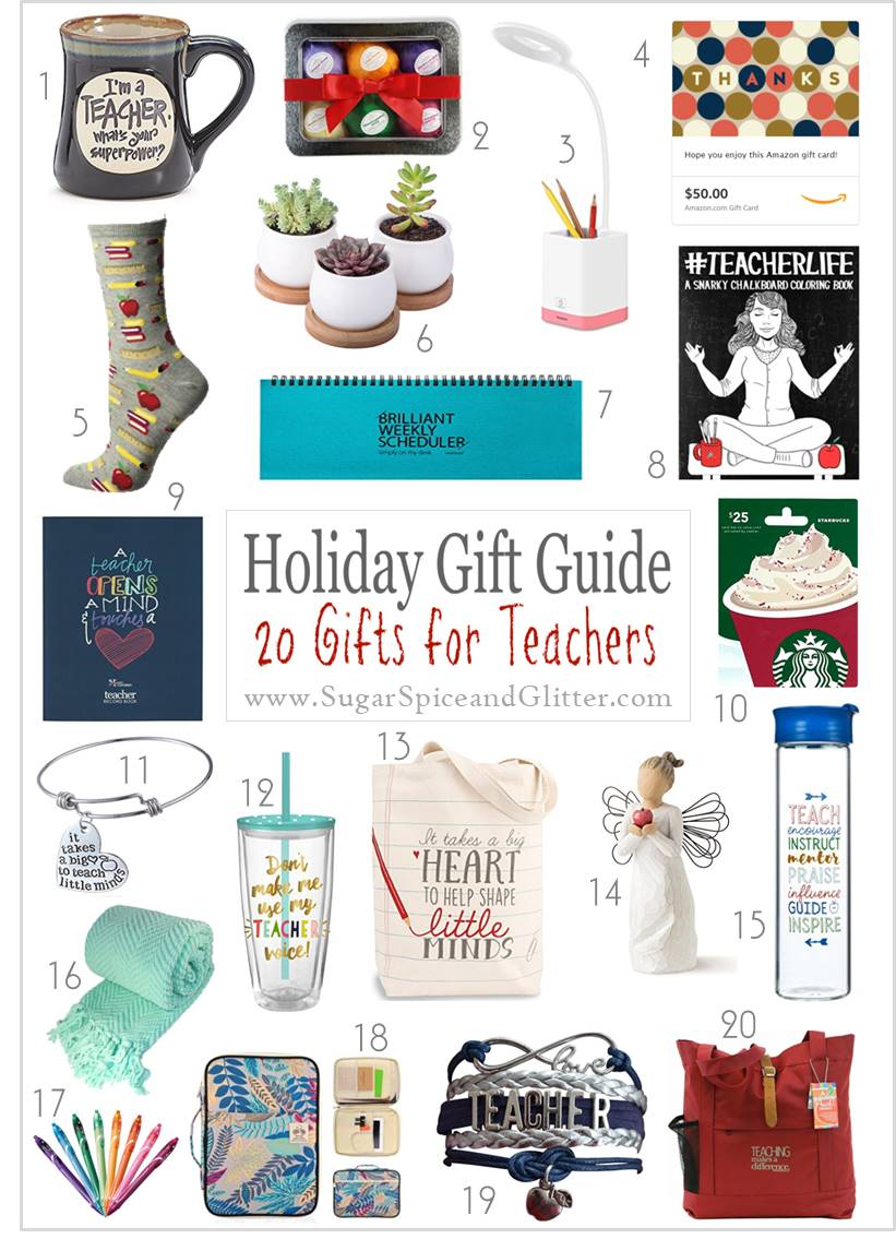 20 Awesome Gift Ideas for Teachers - whether you're buying for your child's teacher or a teacher friend, these gifts are practical and perfect.