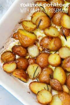 Easy Roasted Red Potatoes with Rosemary & Garlic
