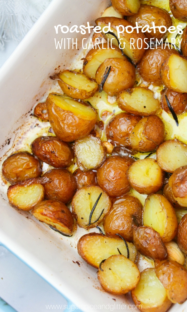 Crispy roasted potatoes with garlic and rosemary is one of my favorite ways to serve potatoes. The perfect potato side dish recipe