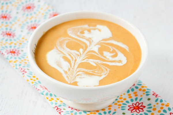 Homemade Butternut Squash Soup with pretty design