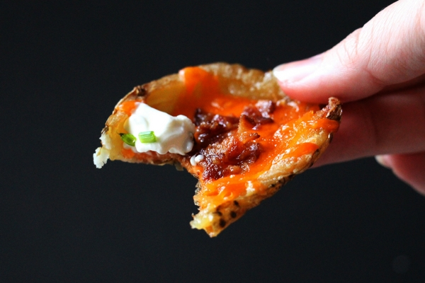 A delicious baked potato skin just like you can get at the pub