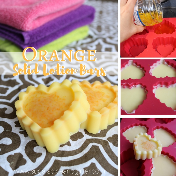 Orange Solid Lotion Bars