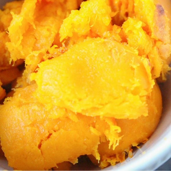 Mashed butternut squash for soup