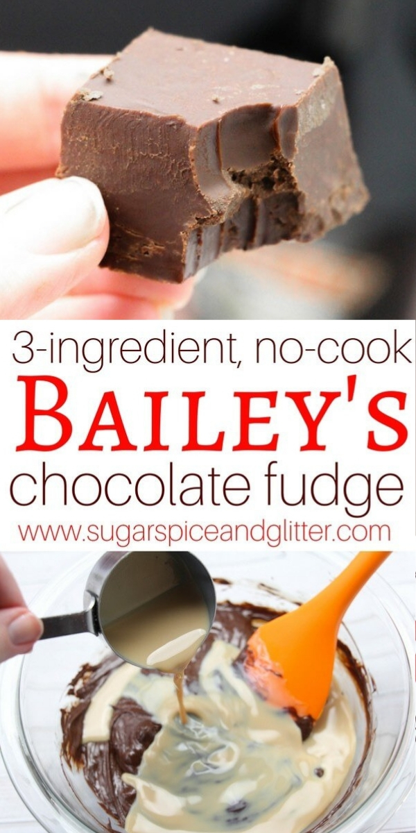 How to make Bailey's Irish Cream Fudge using just 3 ingredients. Bailey's Chocolate fudge is perfect for a boozy dessert or homemade gift
