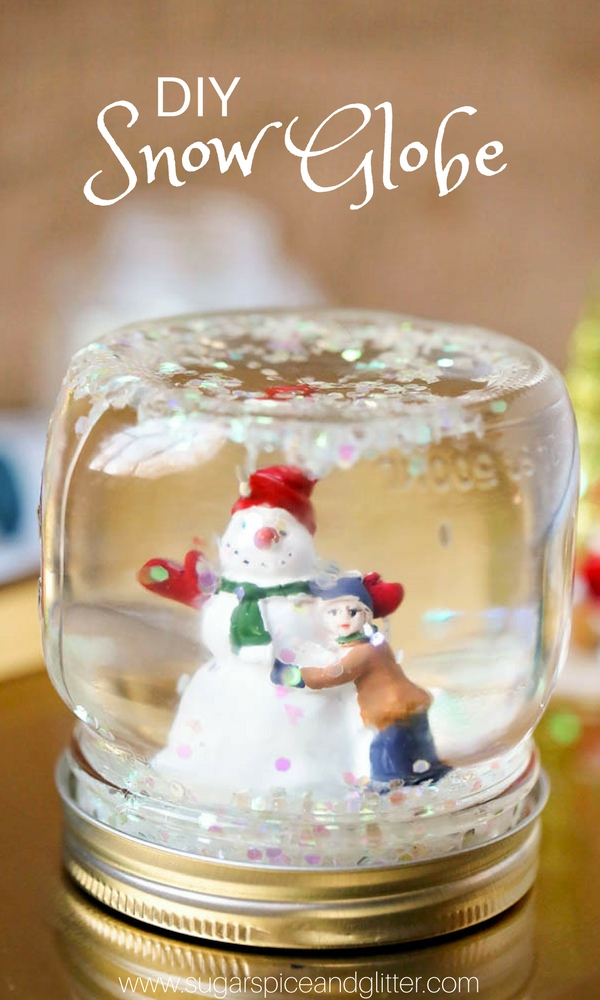 DIY Snow Globes, an easy Winter craft for kids - or a fun way to save travel memories or a custom DIY snow globe for a special character