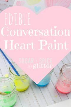 Homemade Conversation Heart Paint for Kids