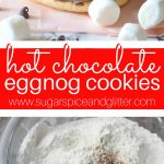 Hot Chocolate Eggnog Cookies