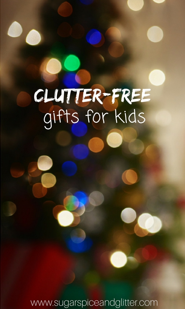 Whether you are shopping for a minimalist family or trying to keep the house clutter-free after a major purge, these Clutter-free Gifts for Kids are intentional, thoughtful gifts that any kid would love to receive - and will keep their clutter-hating parents happy, too! Minimalist kids gift guide