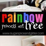 Rainbow Tree Process Art Project