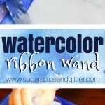 Watercolor Winter Wand