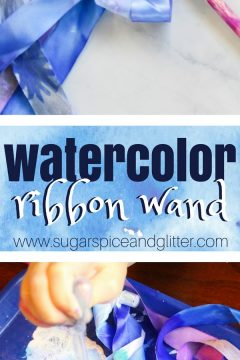 Watercolor Winter Wand