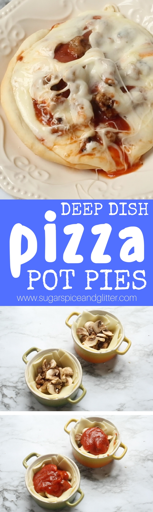 Forget boring pot pies, this pizza pot pie is delicious recipe your whole family will go crazy for - and the kids will love helping to make!