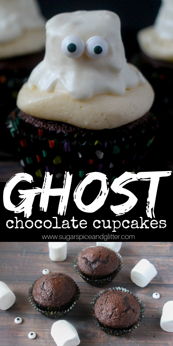 a super simple halloween cupcake recipe that isnt too spooky for kids this