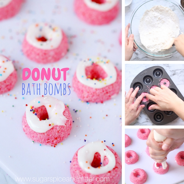 How to make DIY Donut Bath Bombs