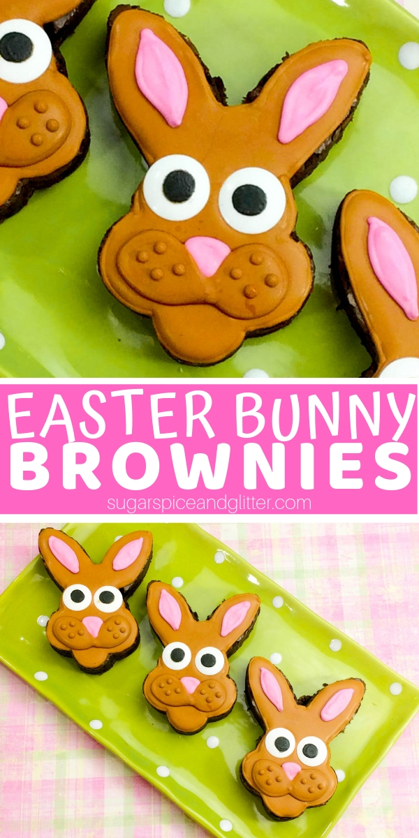 How cute are these Easter Bunny Brownies? And they are so simple to make - no crazy dessert decorating skills required!