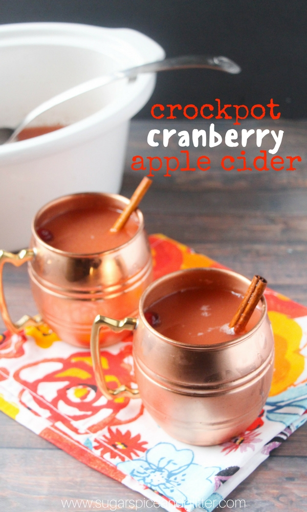 How to make crockpot apple cider that tastes just like fall! This warm fall drink has cranberry, orange and apple flavors and is super easy to throw together