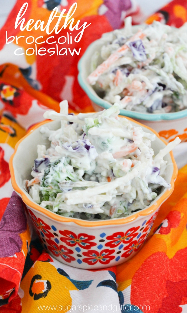 Healthy Broccoli Coleslaw