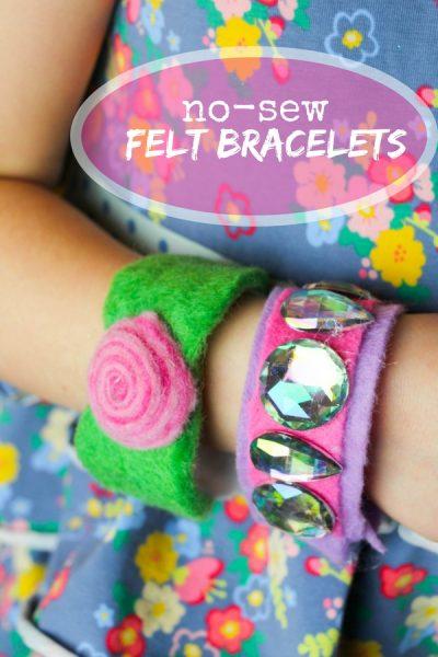 Kid-made Felt Bracelets