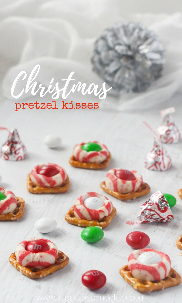 A Super Simple Christmas Party Recipe These Christmas Pretzel Kisses Are The Perfect Mash Up Of Sweet And Salty For Your Festive Celebrations