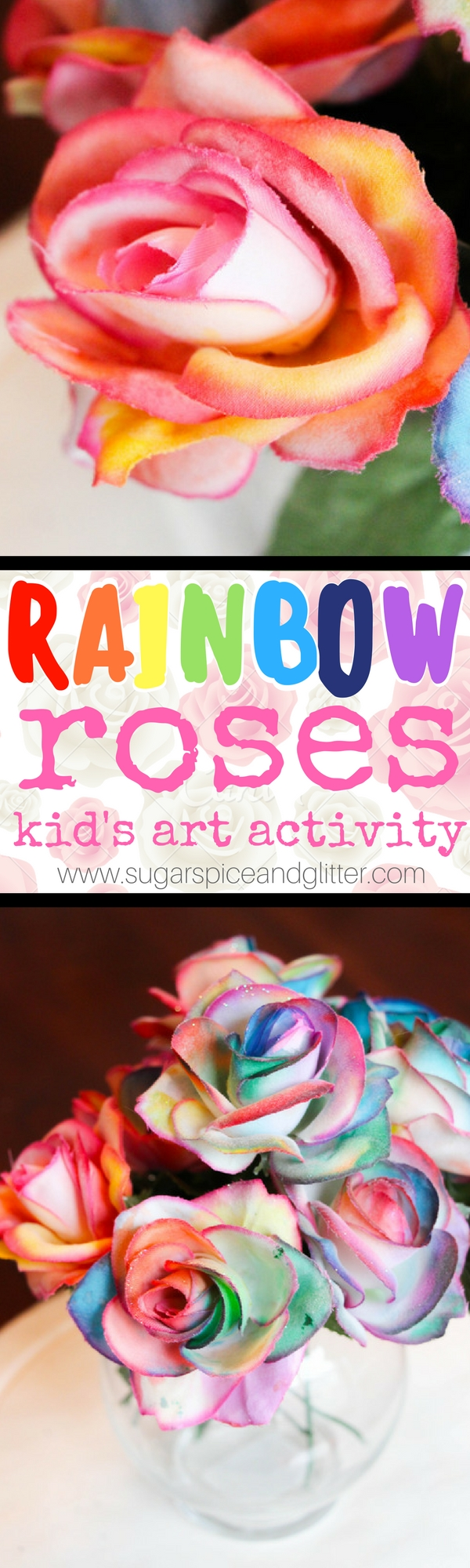 This easy rose craft for kids doubles as a beautiful Valentine's Day craft, Mother's Day craft - or just a pretty way to add some color to your home! An alice in wonderland inspired activity based on the Queen of Heart's painting the roses red