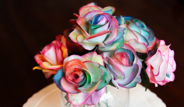 Painting Rainbow Roses Sugar Spice And Glitter