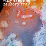 Fizzy, Erupting Snowy Day Sensory Bin