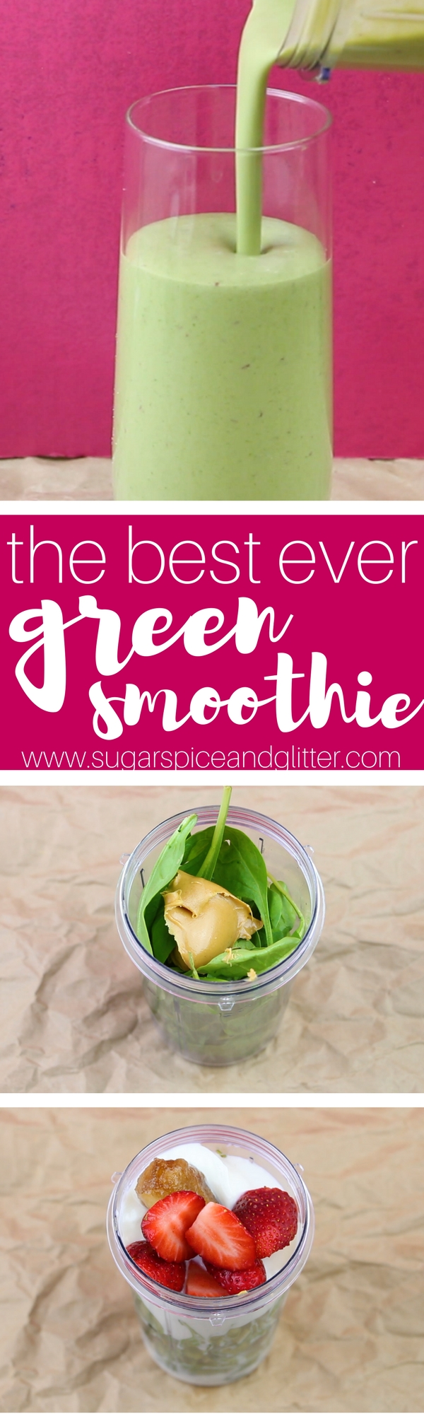 This BEST EVER Green smoothie recipe will revolutionize your mornings - helping you achieve your health goals with little effort or sacrifice. Despite having two cups of spinach, it tastes just like a peanut butter banana milkshake