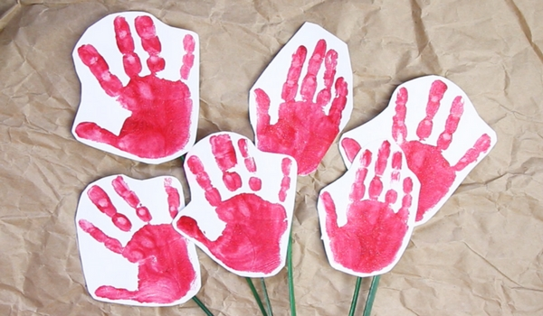 Handprint Roses With Video Sugar Spice And Glitter