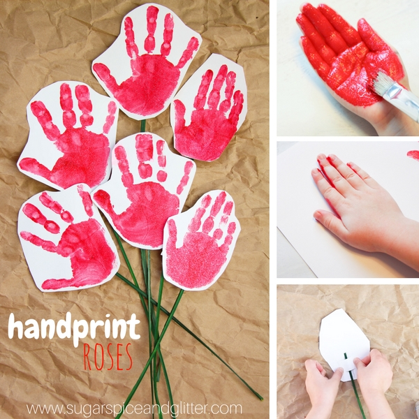How to make a simple rose craft for moms