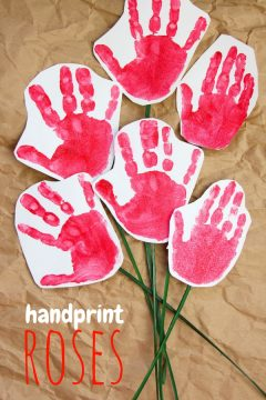 Handprint Roses (with Video)