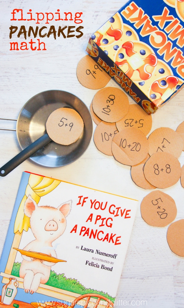 If You Give a Pig a Pancake Math Activity - a fun book-inspired math activity for kids who love hands-on learning. Math game with a tasty twist
