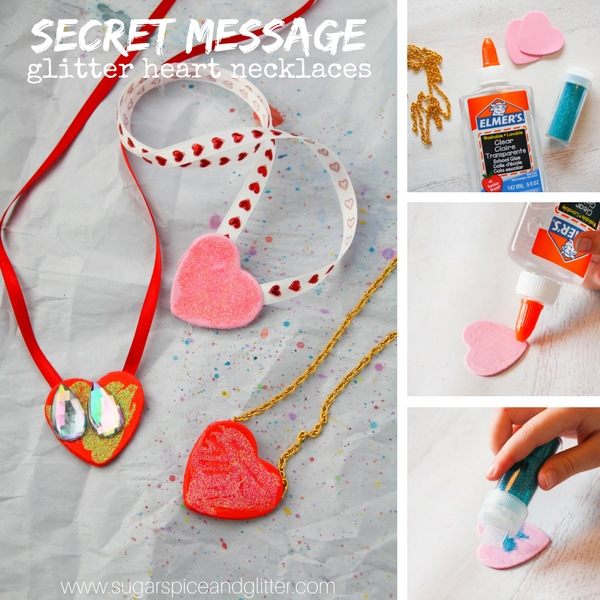How to make a locket with ribbon and foam hearts