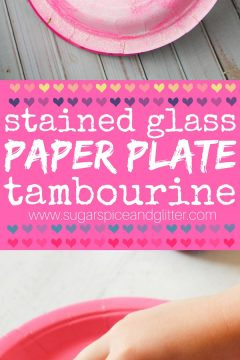 Stained-Glass Paper Plate Tambourines
