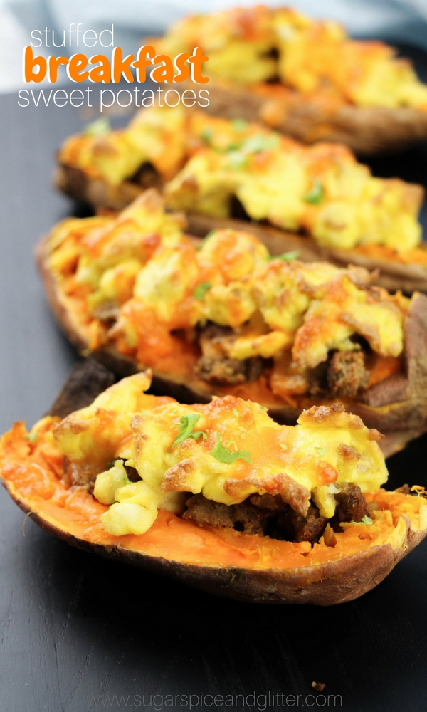 This sweet and savoury breakfast sweet potato recipe is a quick and healthy breakfast recipe that works just as well for busy mornings as it does for relaxed brunches.