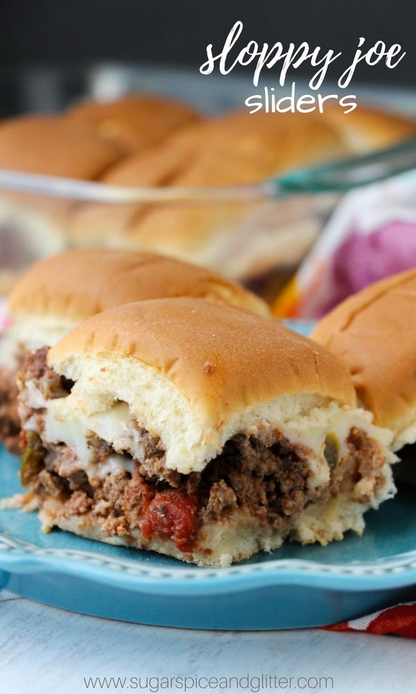 A fun twist on a cheeseburger slider, these Sloppy Joe Sliders have plenty of seasoning and ooey gooey cheese. They are perfect party food