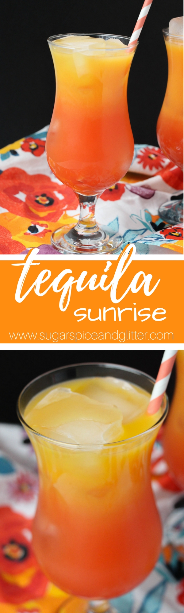 A tequila cocktail for people who don't like tequila- serve this Tequila Sunrise at your next party. A fresh and fruity tropical drink