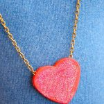 Secret Message Glitter Heart Necklaces