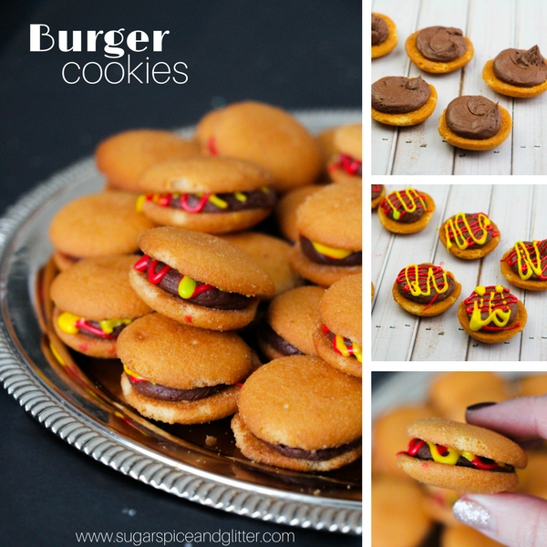 How to make cookies that look like mini burgers - the perfect BBQ dessert