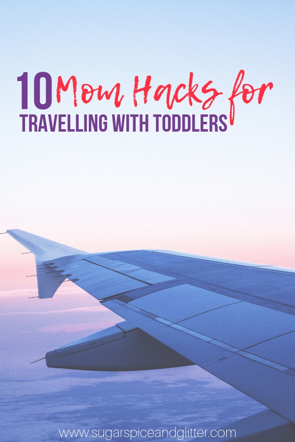 You don't want to miss these quick and easy mom hacks for traveling with toddlers - little tips like how to make your stroller work triple time through the airport will make your travels easier