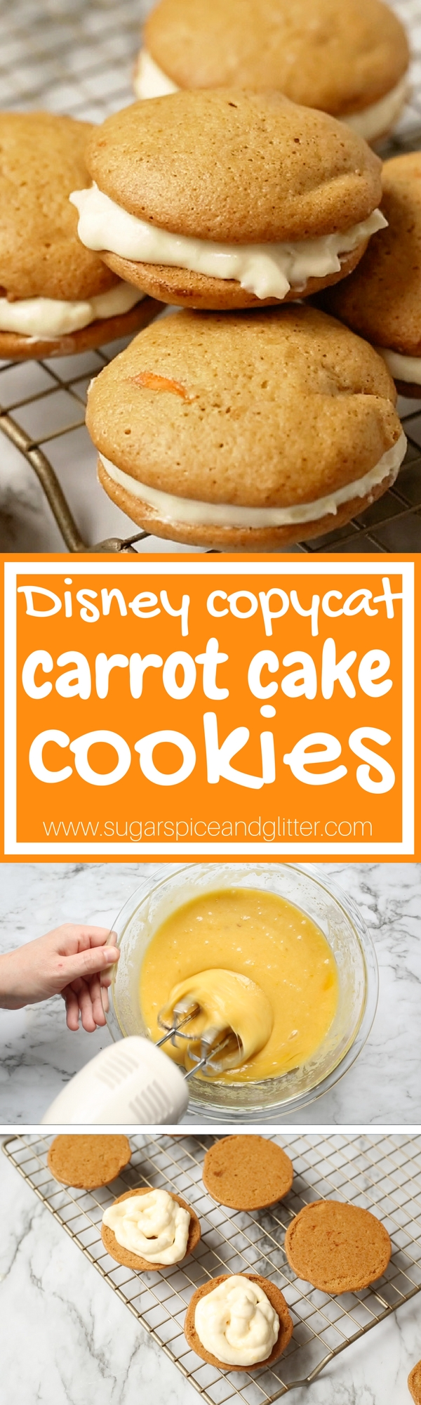 The perfect recipe for Carrot Cake Cookies, a fun Easter dessert or Disney movie night treat - after all, they are inspired by the Disneyworld recipe!