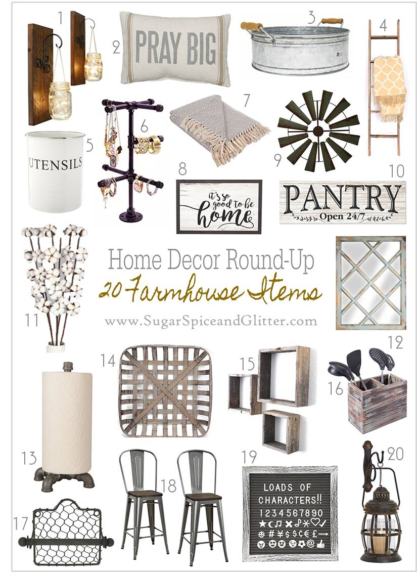 Affordable Farmhouse home decor ideas on a budget - these home decor pieces all add rustic charm to your house inspired by Joanna Gaines!