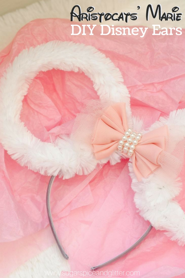 DIY Disney Ears for Homemade Park Accessories - these Marie-inspired ears are perfect for the Aristocats fan