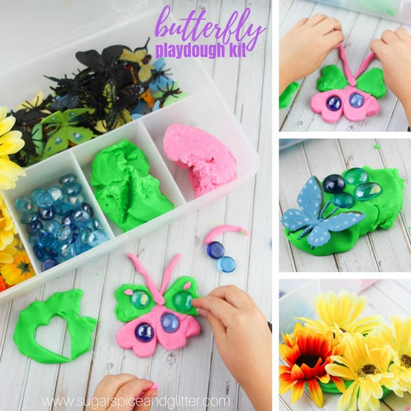 How to make a butterfly play dough kit for kids