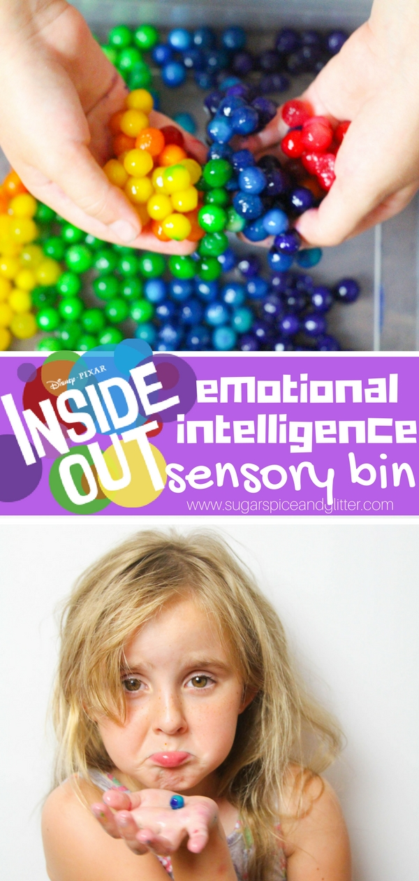 Disney-inspired Inside Out EQ Sensory Bin, for helping kids talk about their emotions and understand them in a powerful way