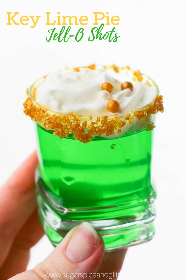 A delicious jello shot recipe inspired by key lime pie. This Green Jello Shot is perfect for Christmas or St Patrick's Day - a fun party shot your guests will love