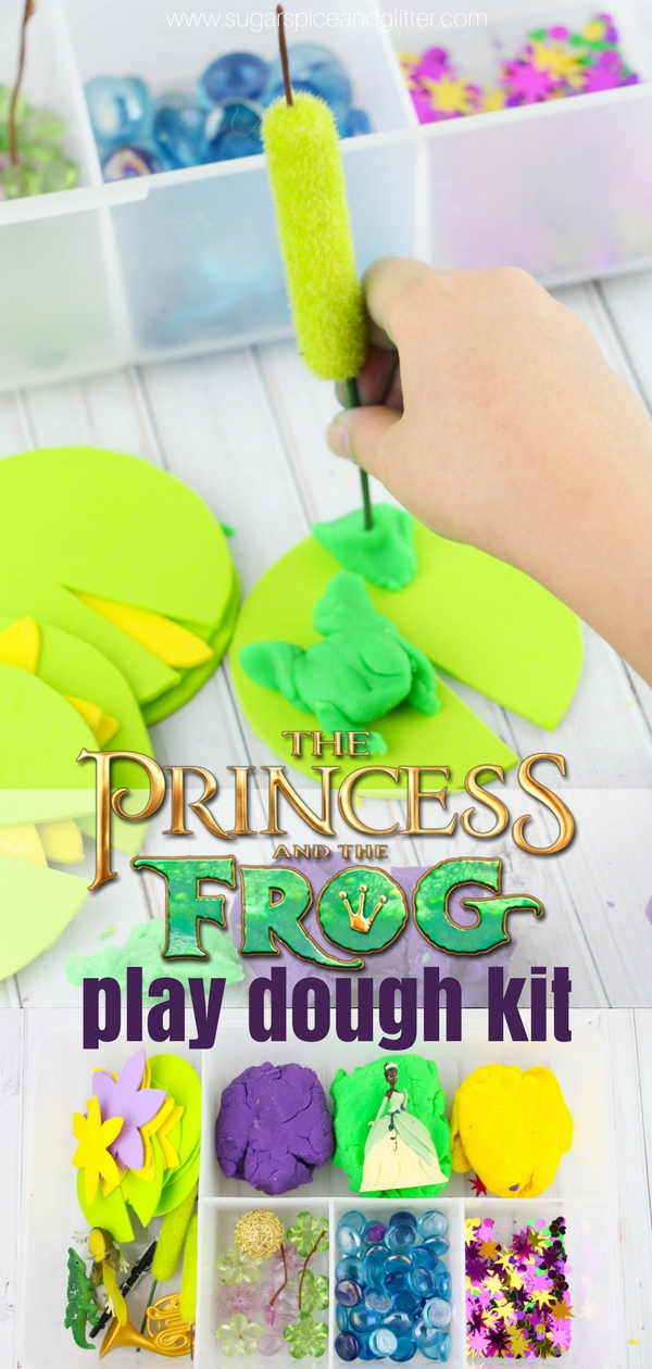 Kids will love this Princess and the Frog play dough kit, perfect for a Princess birthday gift or play date! We played with our kit after reading the classic fairytale