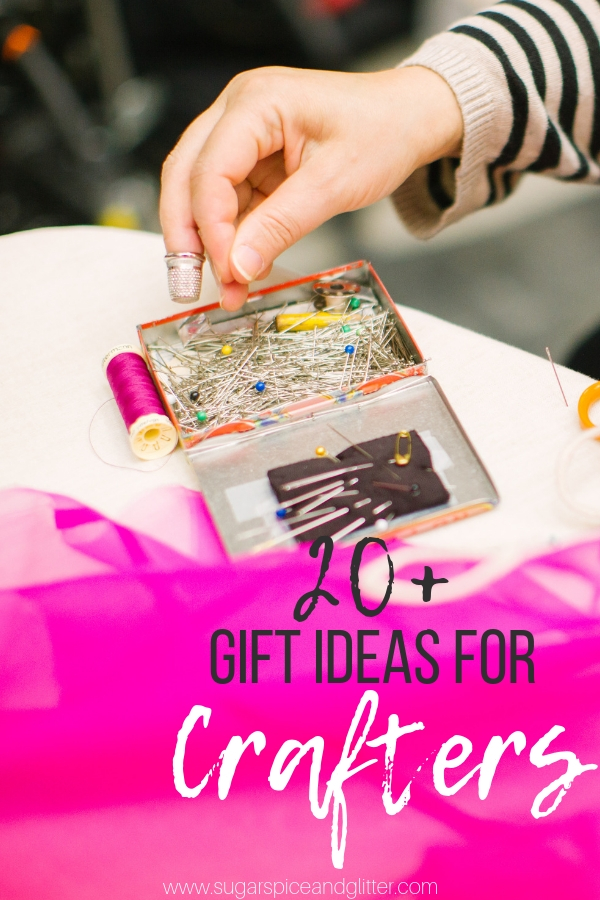 Unique and thoughtful gift ideas for the crafters in your life - from craft subscription boxes to the hottest crafting tools and cute kits